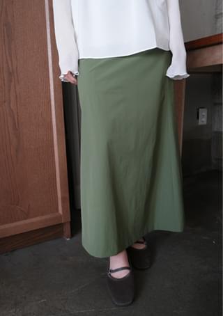van semi A-line skirt