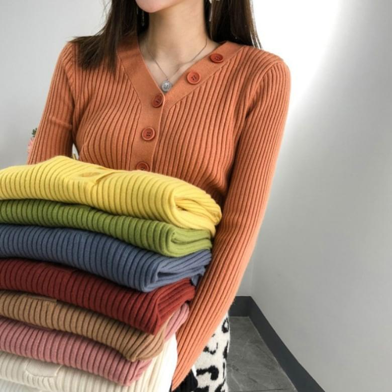Cashmere Slim V Neck Knitwear Sweater