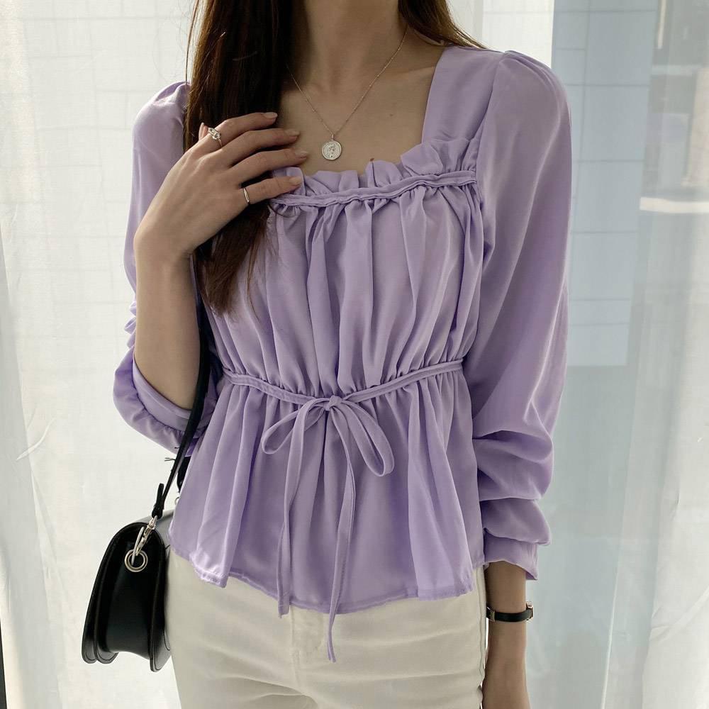 Nadia shirred blouse