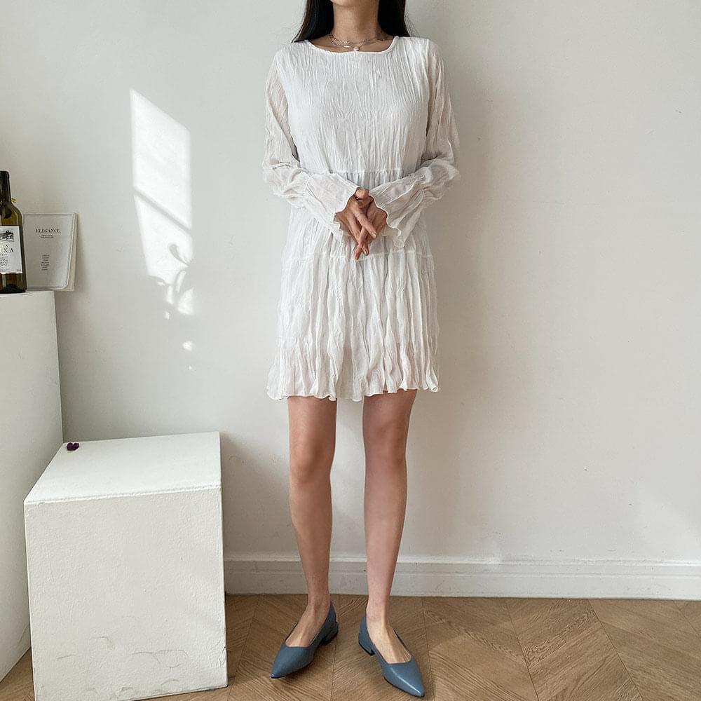 Wrinkle Wrinkle Mini Dress