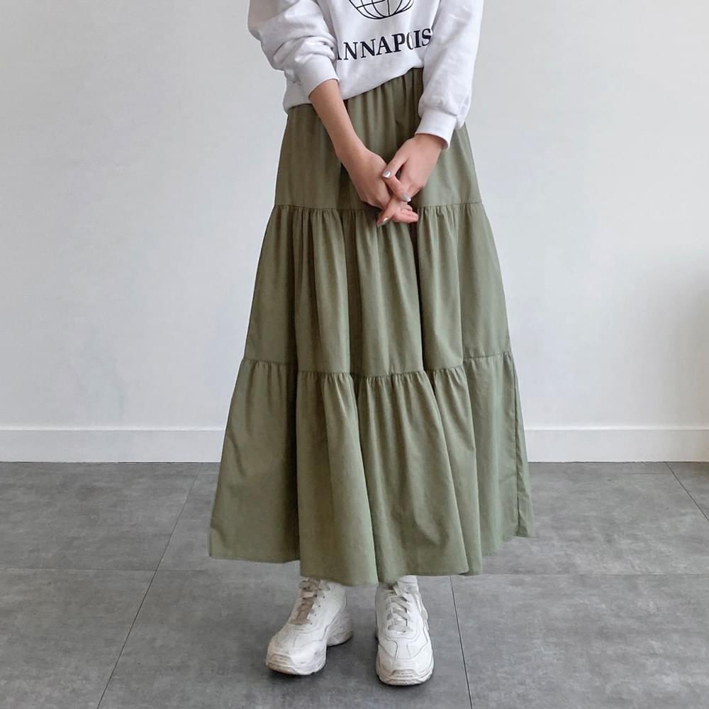 Garden cancan long skirt