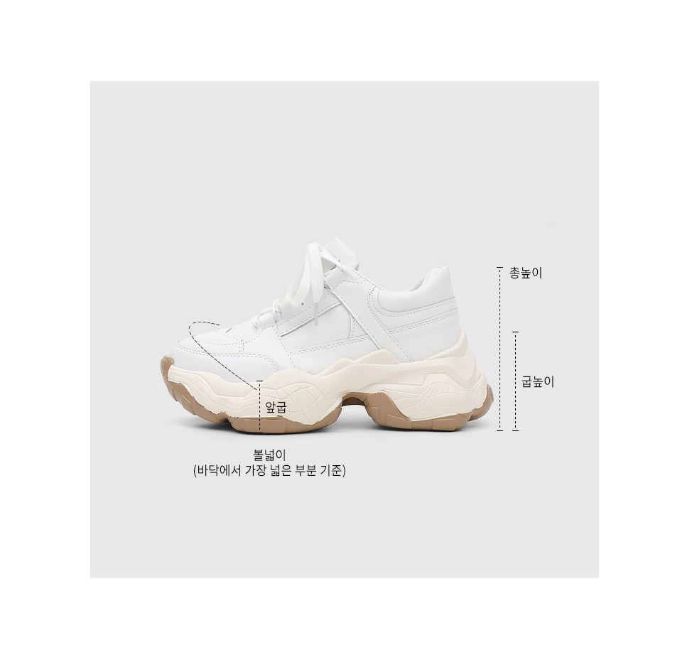 Isshu Sporty Lace-up Outsole Two Tone Ugly Sneakers Sneakers 10816
