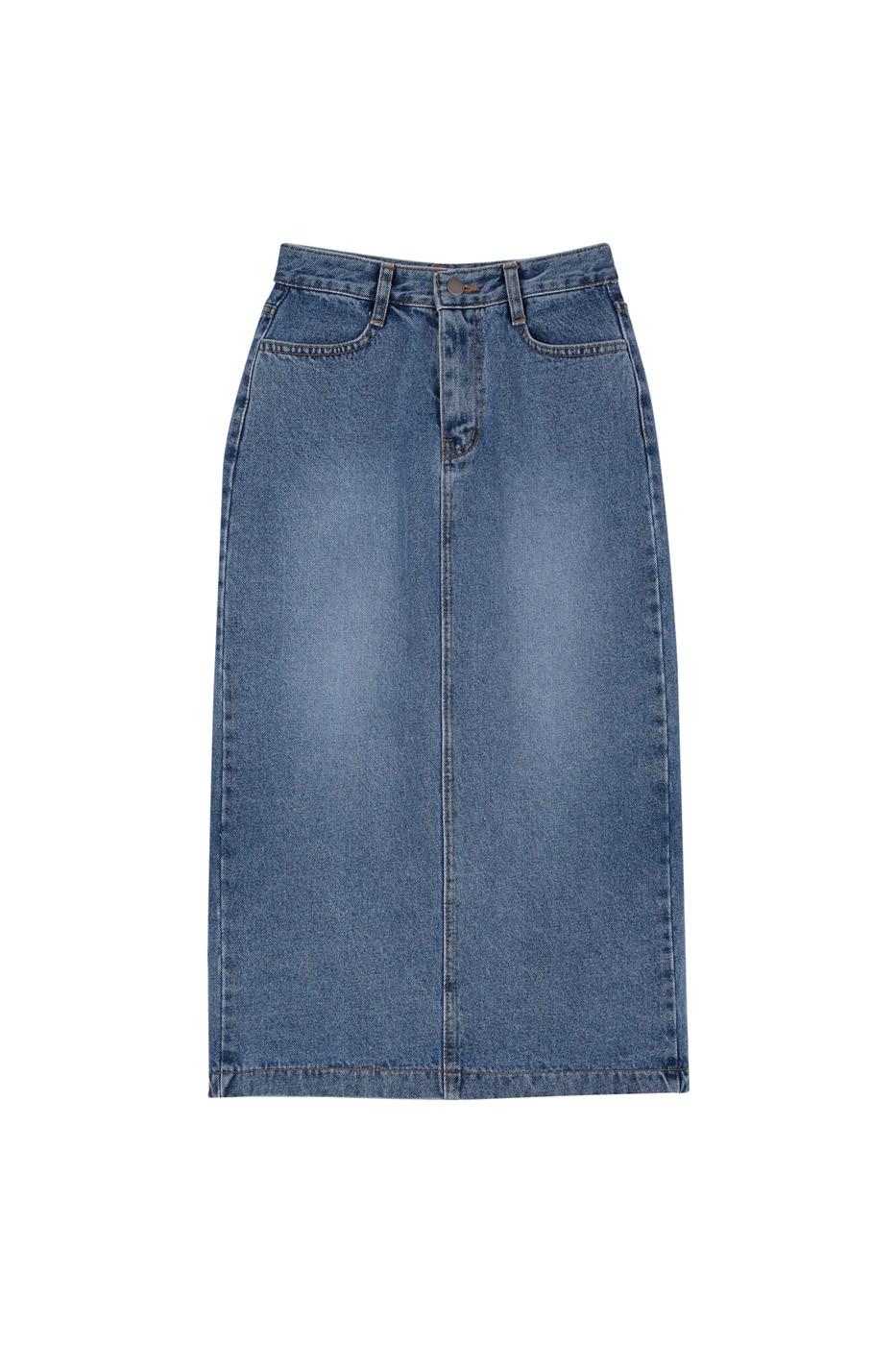 Daily denim maxi skirt