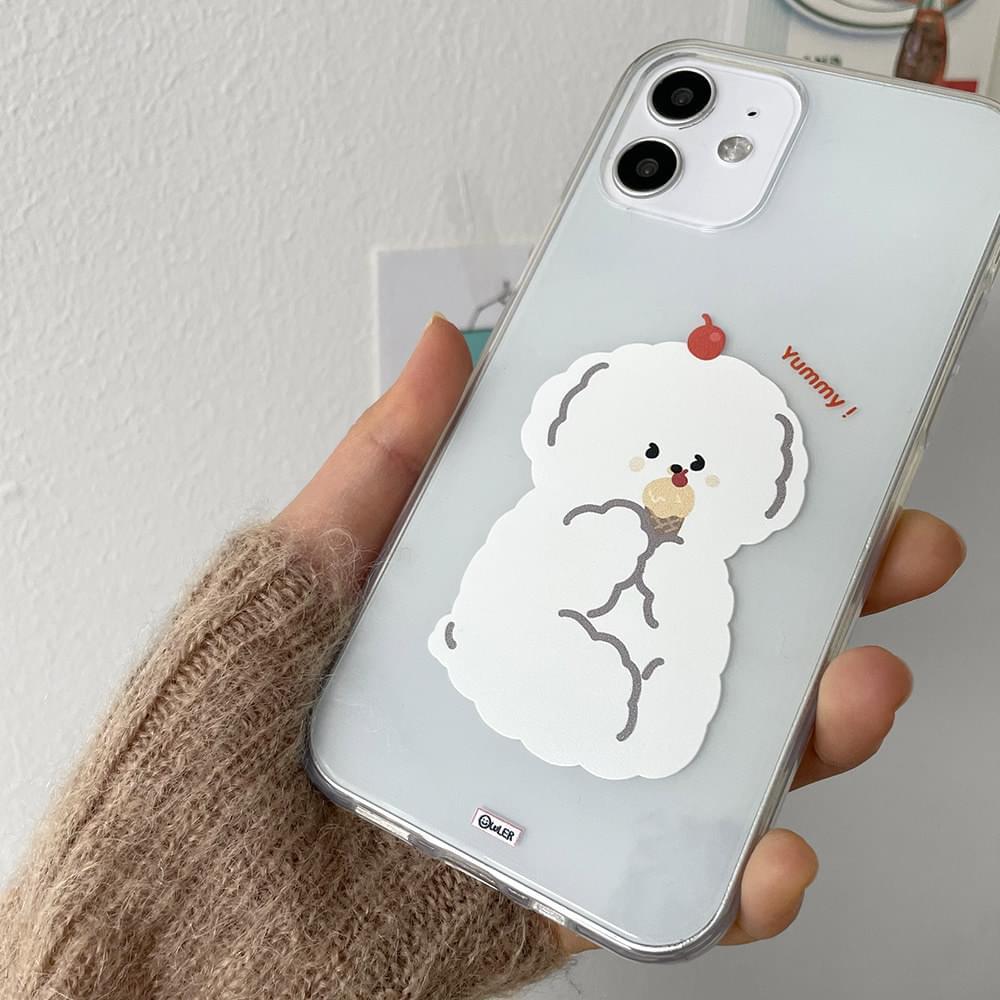 闇アイスクリーム犬iPhoneケース