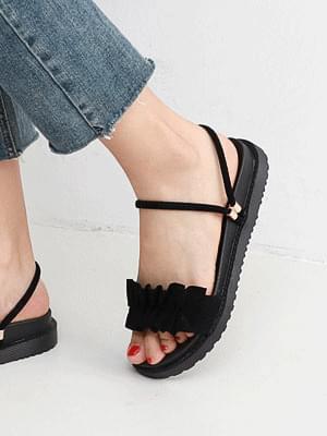Isshu 2way Frilled Full Heel Sandal 10733