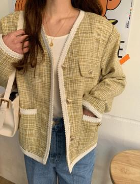 Love Tweed V-Neck Jacket 夾克外套