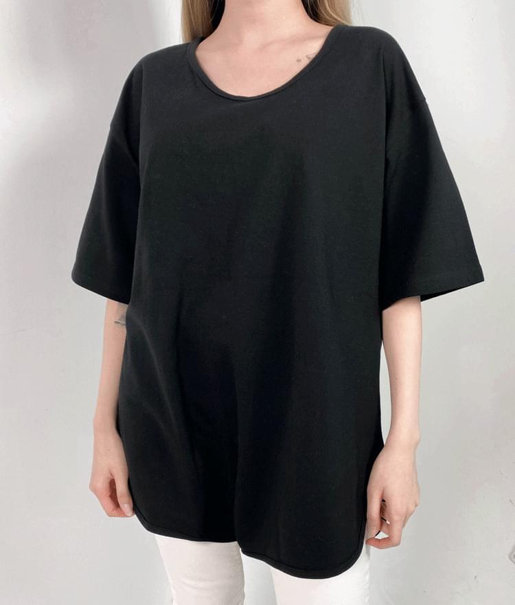 Side Slit Loose T-Shirt