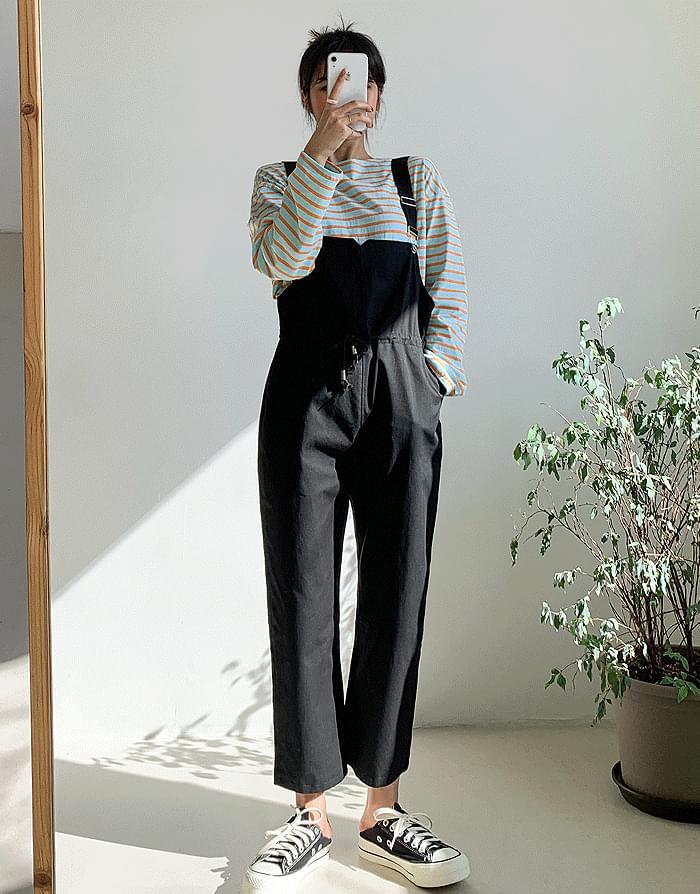 Ripple Suspenders Pants
