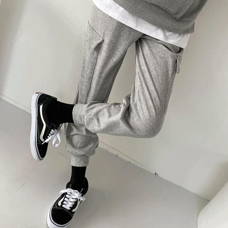 Layered Sweatshirt Biscuit Pants SET