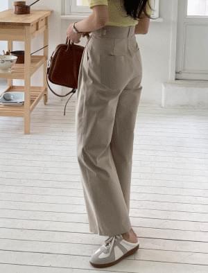 Dendi Bizo pintuck wide pants