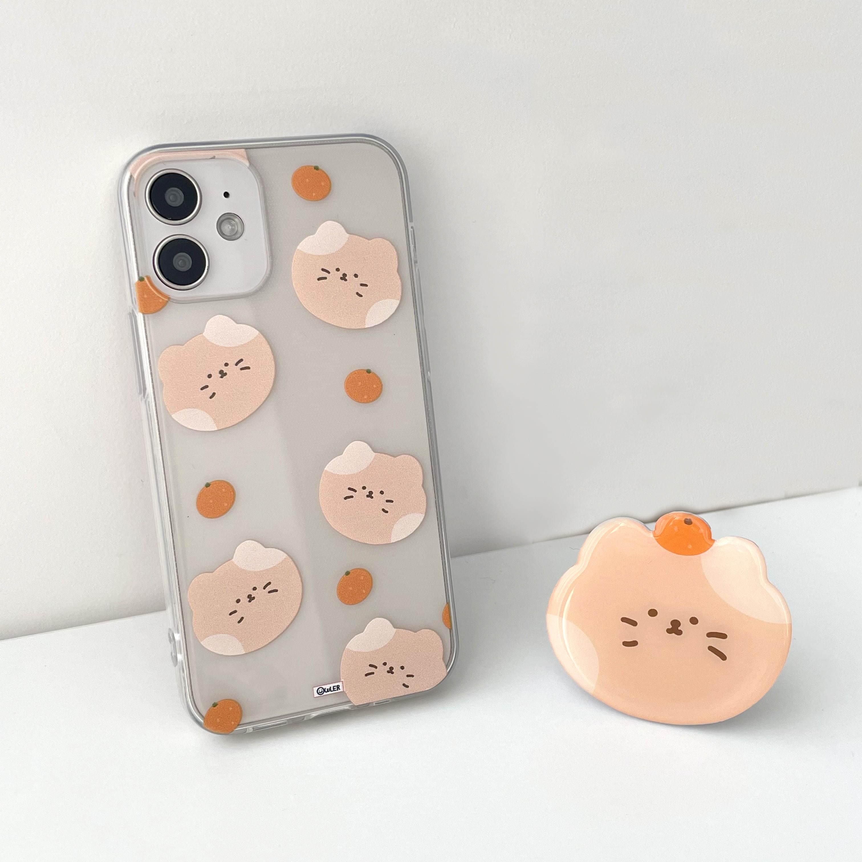 みかんニャンイパターンiPhoneケース