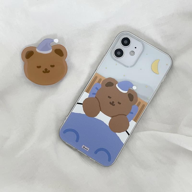 眠っているスリーピングベアiPhoneケース