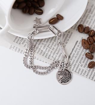 Coin Chain Bracelet #86453 手鐲