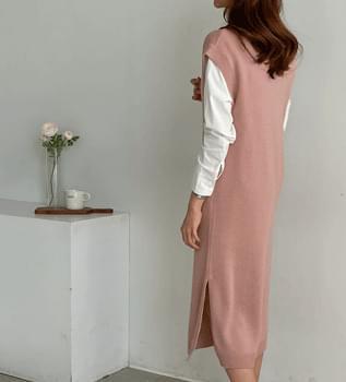 Knitwear Vest Long Dress #37843 连身裙
