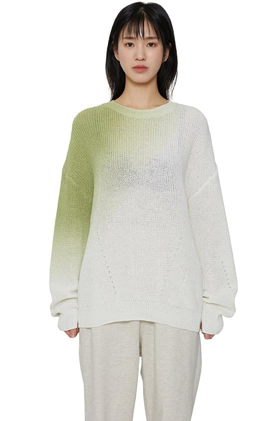 Dying Gradient Crew Neck Knitwear