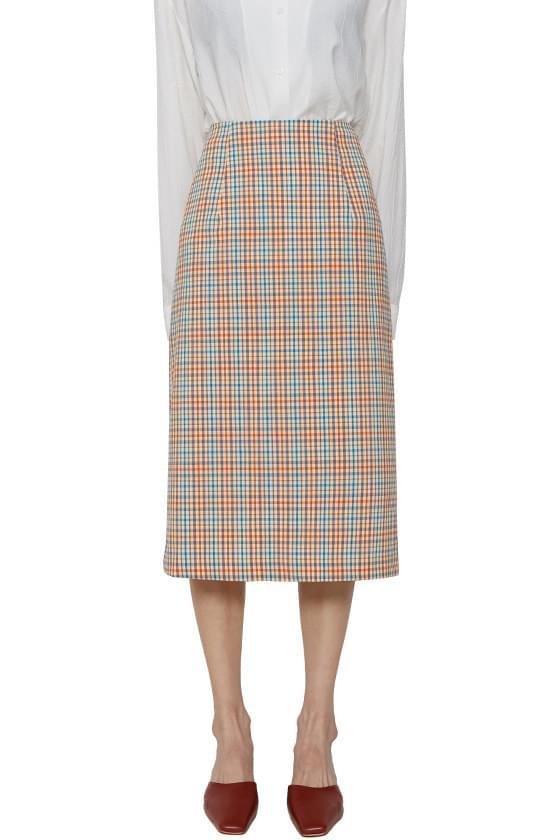 Earl Gray Check Midi Skirt