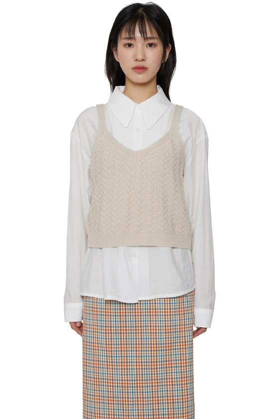 Luna Bustier Knitwear Top