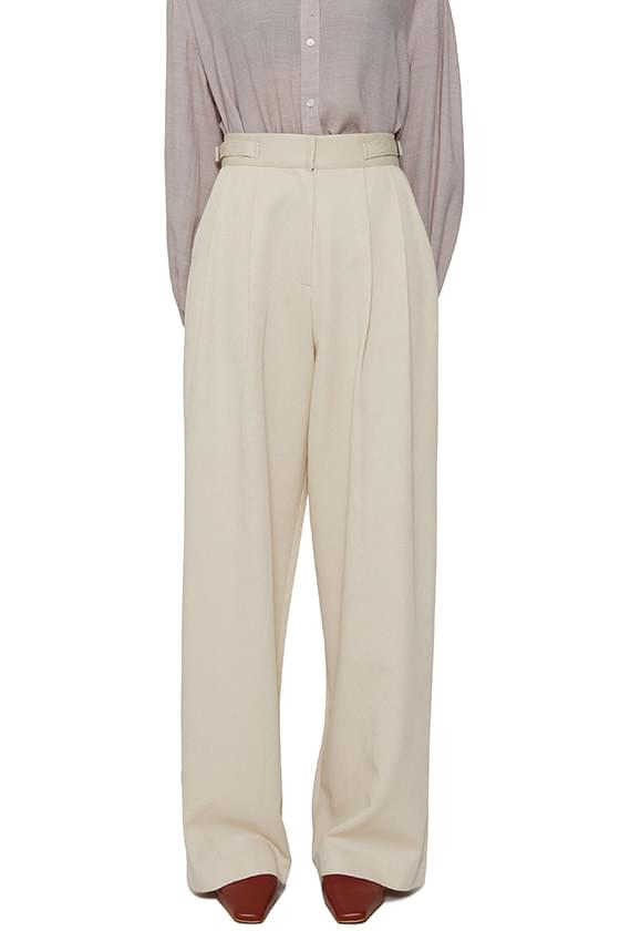Live buckle wide trousers