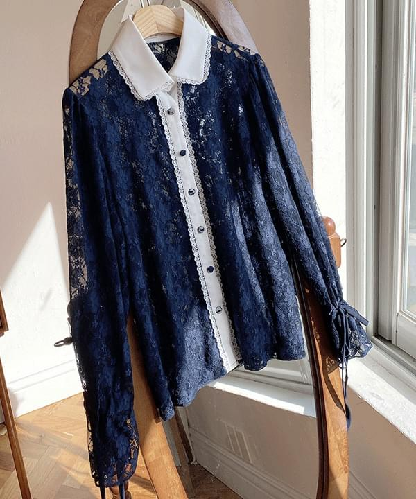 Margarine lace collar blouse 2color 襯衫
