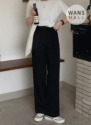 pt3757 Shops Pintuck Wide Cotton Pants pants