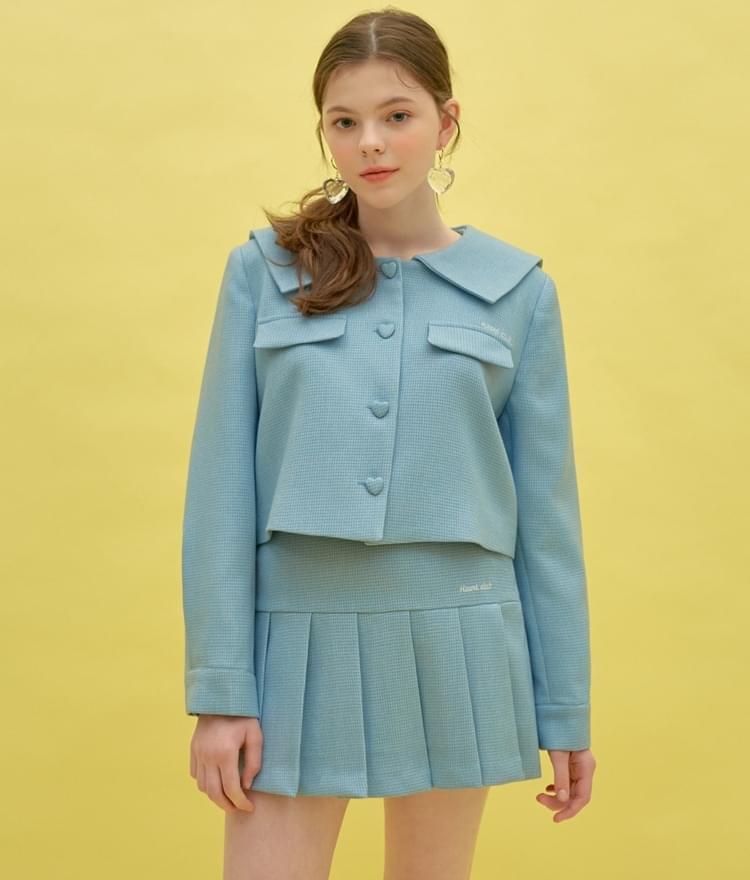 Heart Sailor Jacket (Sky Blue)