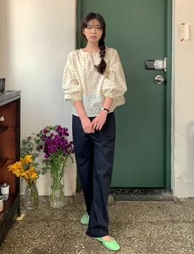 Bird Flower Cotton Blouse 襯衫