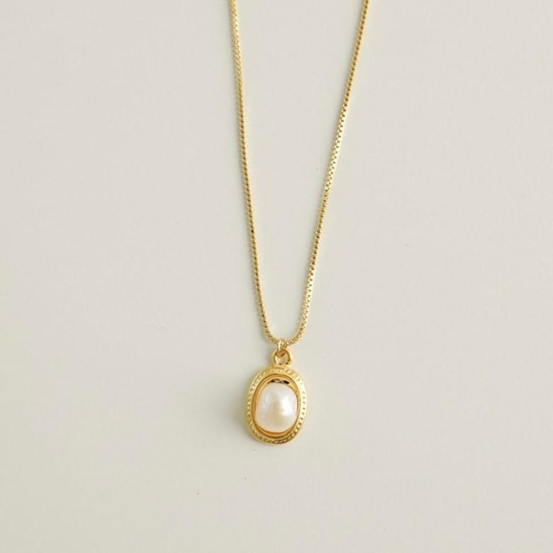 Luxury gold pearl necklace 項鍊