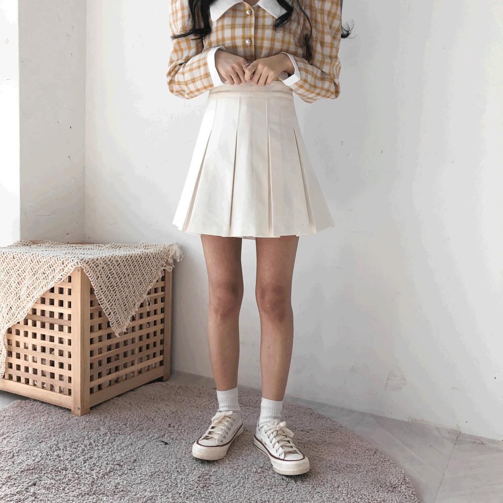 Mark wide pleated mini skirt