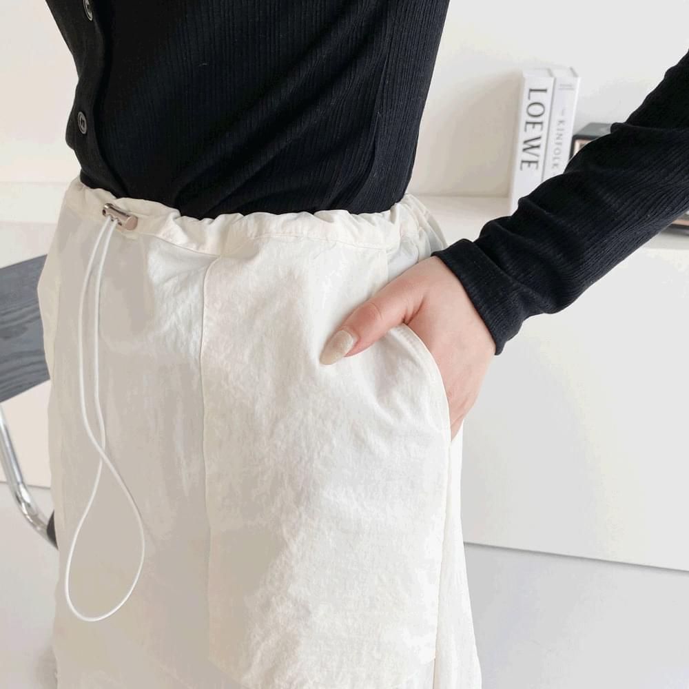 Anorak banding long skirt