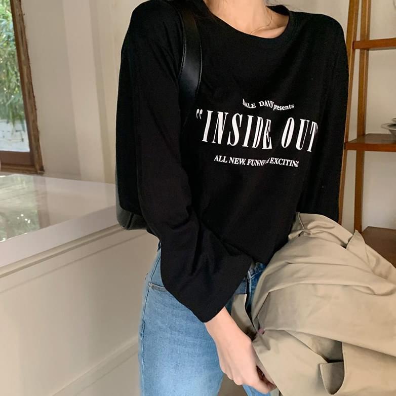 Inside lettering T-shirt