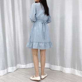Joy Bean Button V Dress