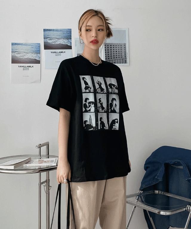 Maritel printed short-sleeved T-shirt Short Sleeve