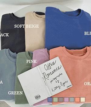 Pastel scent basic Boxy Sweatshirt