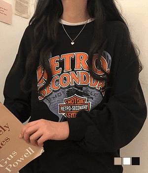 Retro Vintage Printing Sweatshirt