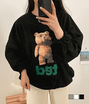 Byeongnabal ted transfer Loose-fit Sweatshirt 長袖上衣