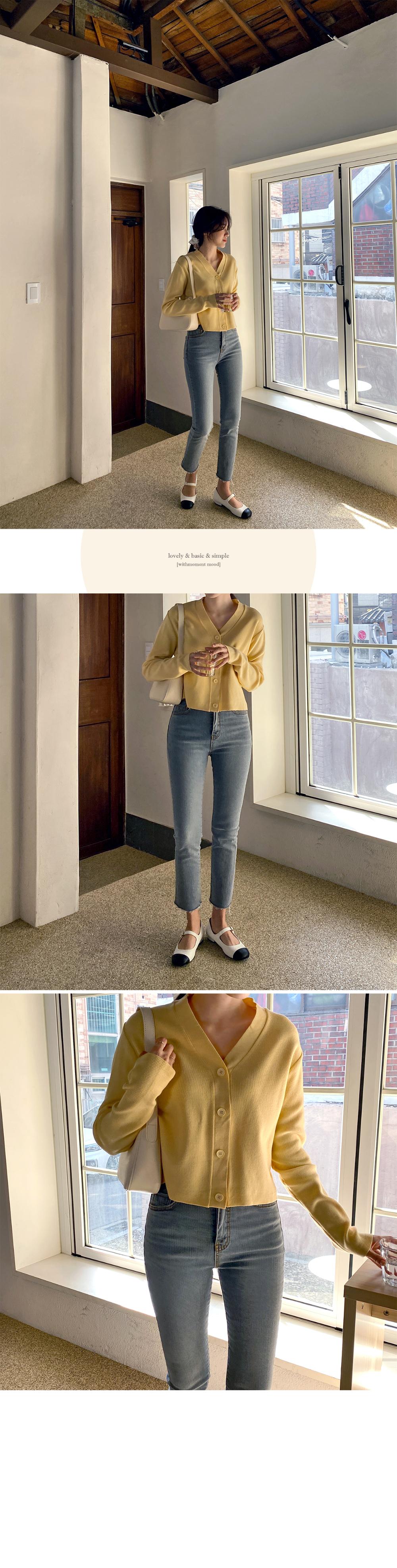 Gray Slim Cut Denim Pants