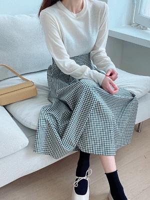Dali check skirt
