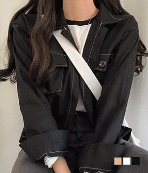 Oxford tantan stitched cotton jacket 夾克外套