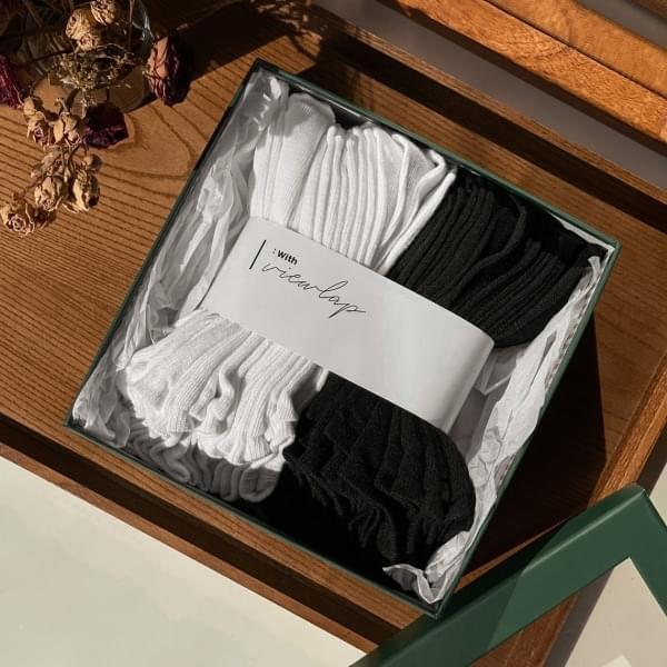 Set of 20 Basic Plain Ankle Socks Black & White