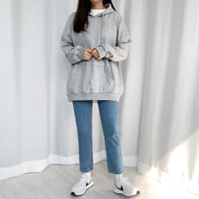 Moy pocket plain hoodie
