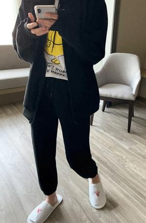 Neoprene banding jogger pants