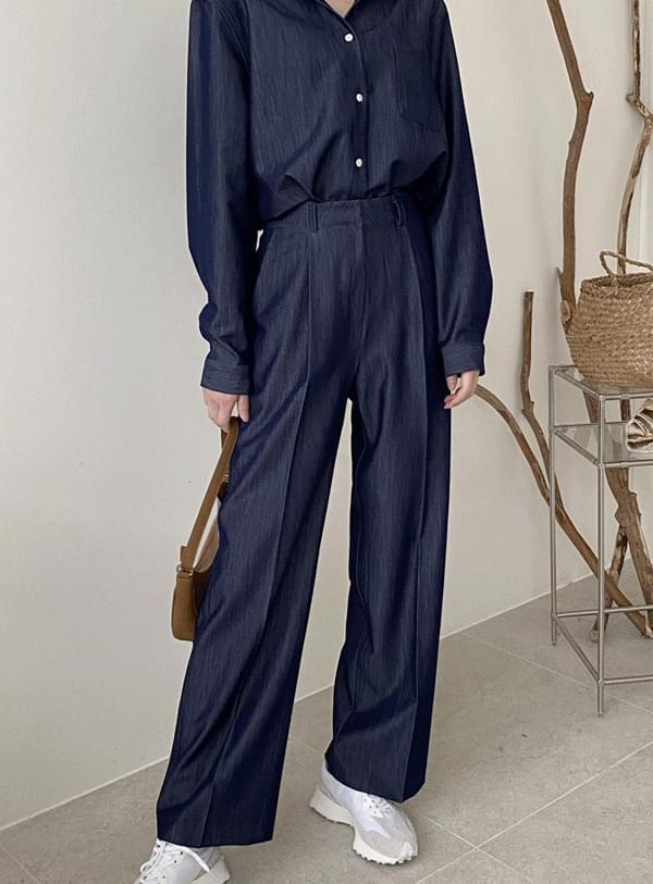 Ponzu denim pants / dark blue