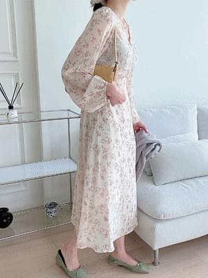 Arin Flower Chiffon Dress