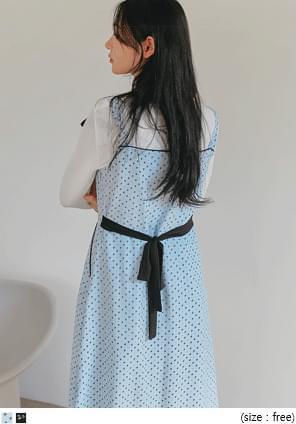 Ribbon Accent Ditsy Dress