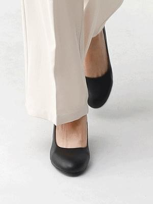 Isshu new start round nose middle heel high heel pumps for interview 5332 ♡2nd sold out♡