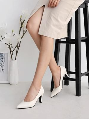 Isshu pointed nose high heels V cut pumps basic style stiletto women's heels 2481 ♡ 2nd edition ♡