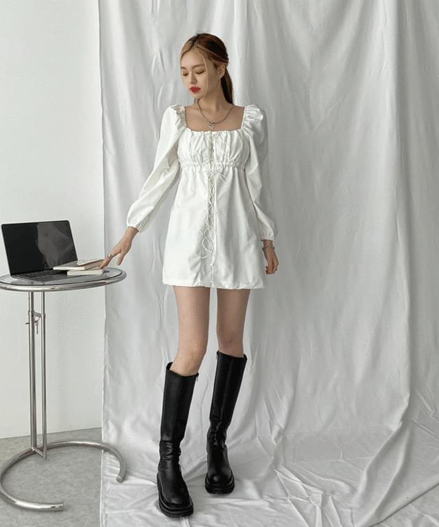 Dael Puff Eyelet Mini Dress