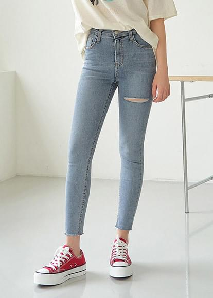 Skinny Damage Denim Pants