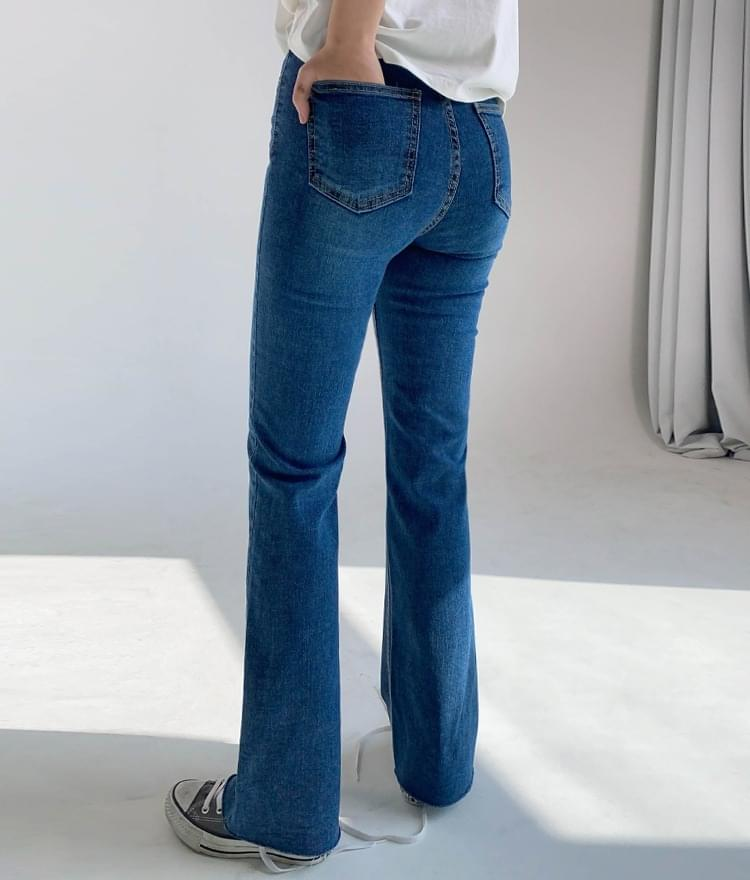 Hidden Flared denim trousers