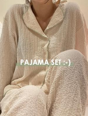 Pure Stitch Pajama Set